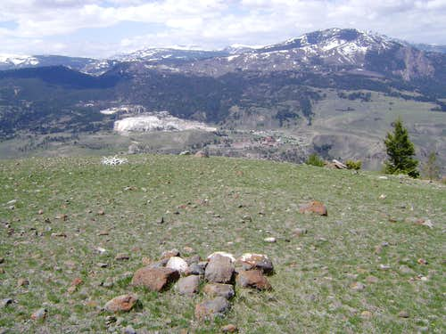 The summit of Mount Everts-Yellowstone National Park