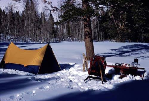 Winter Camping in the Early Eighties