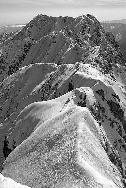 Piatra Craiului Ridge in winter