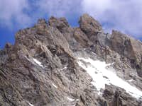 The south face of the Middle Teton