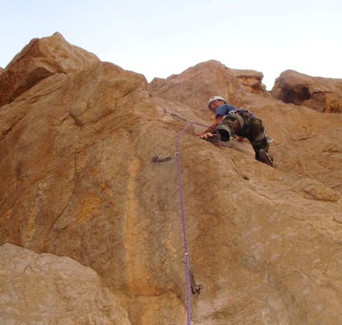 Fig. 8 The first ascent of Swinging in RAK