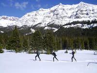 Skiing beneath Barronette Peak-Yellowstone National Park