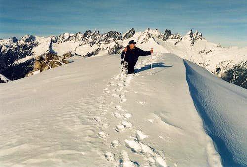 Dr. John Roper at the summit...