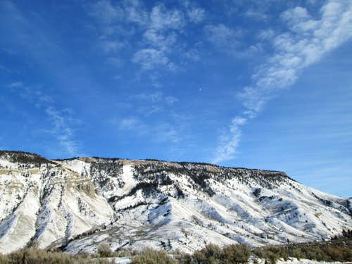 The west face of Mount Everts in winter-Yellowstone National Park