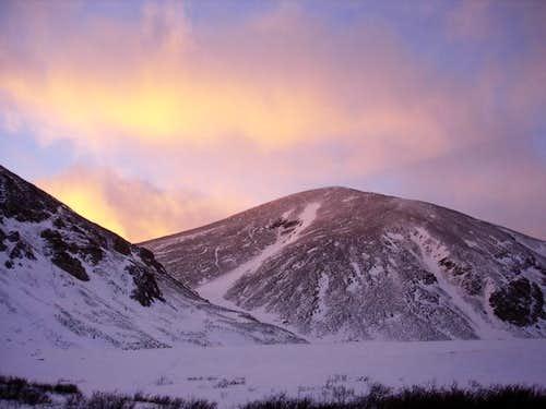 Mount Sheridan beneath...
