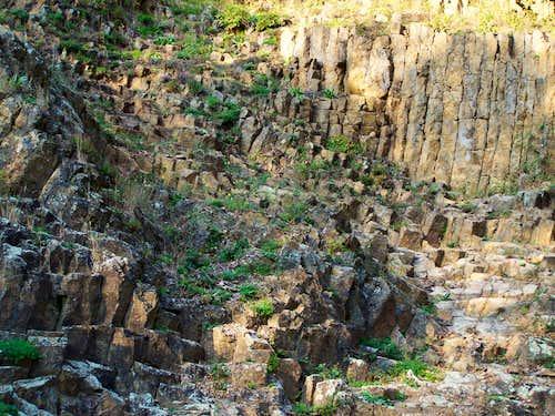 Basalt rocks at Rupnica