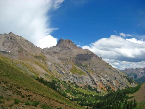 Potosi Peak and Teakettle Mountain