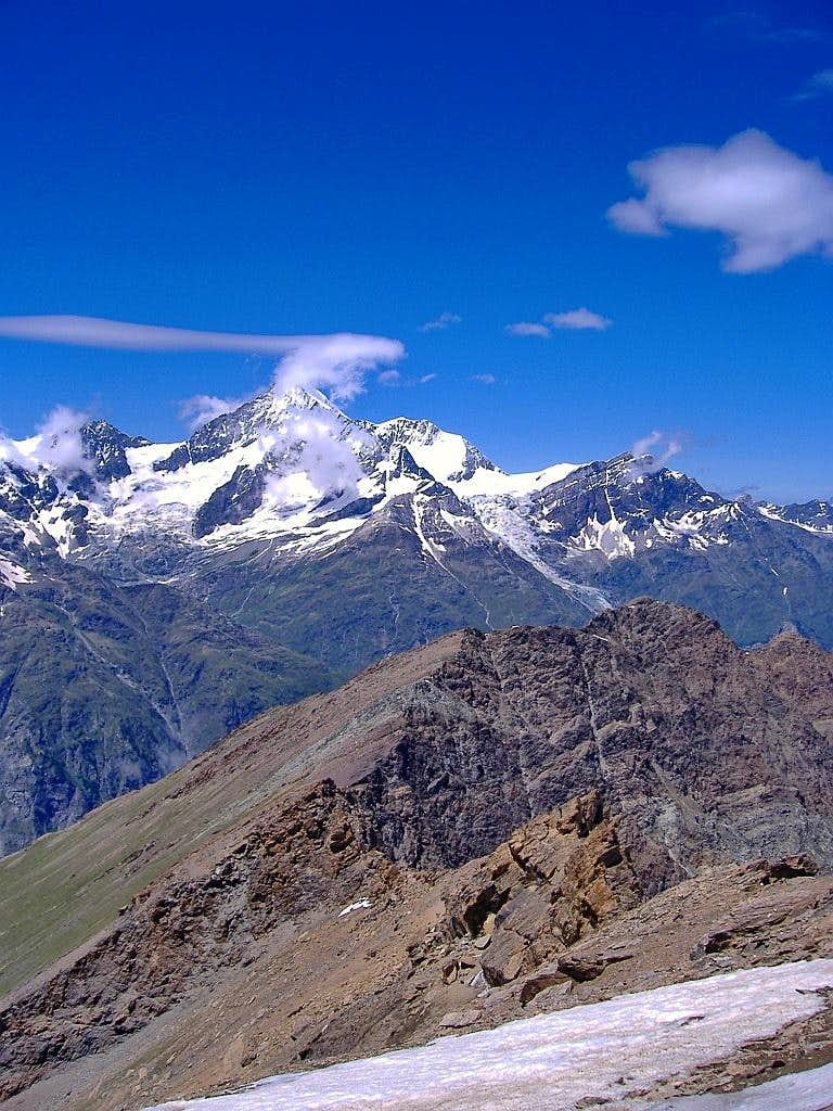 Clouds are playing with Weisshorn.