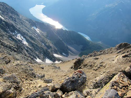 From the Vulture summit looking down at Quartz Lake