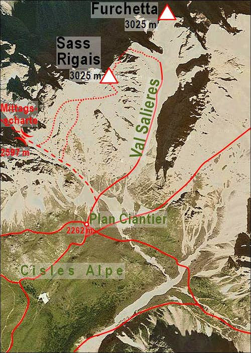 Sass Rigais map