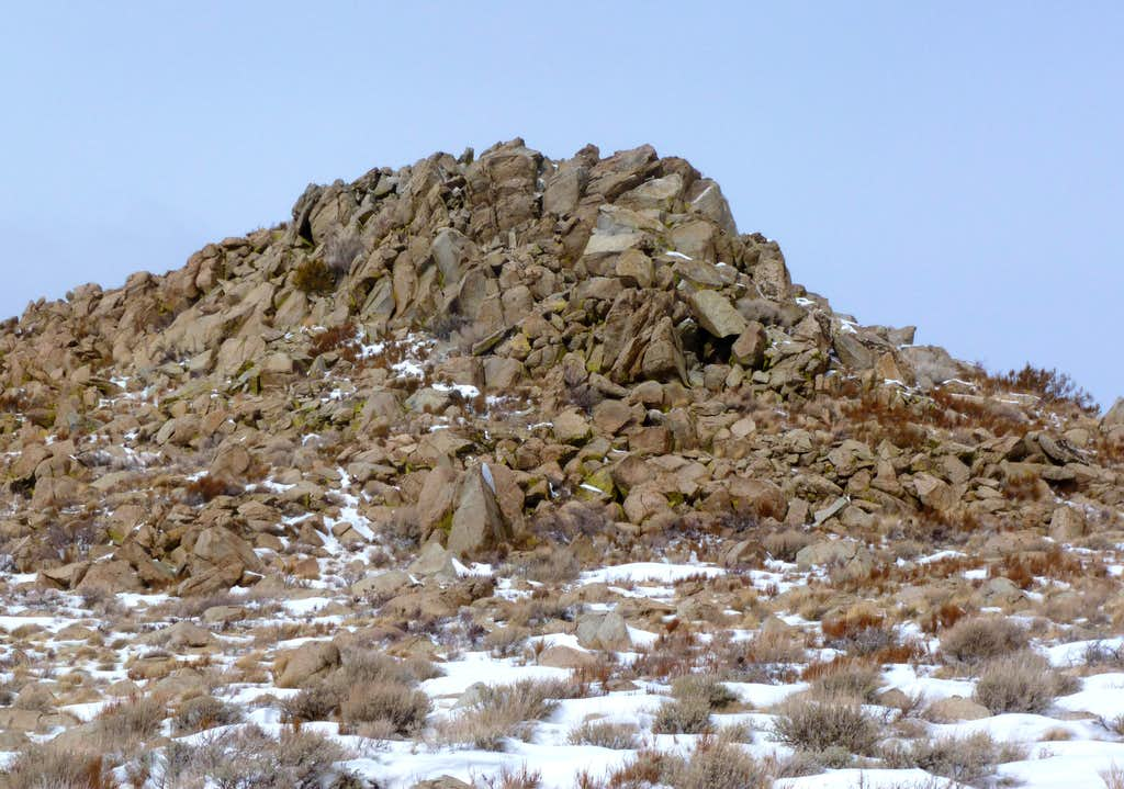 Zoom shot of the summit block