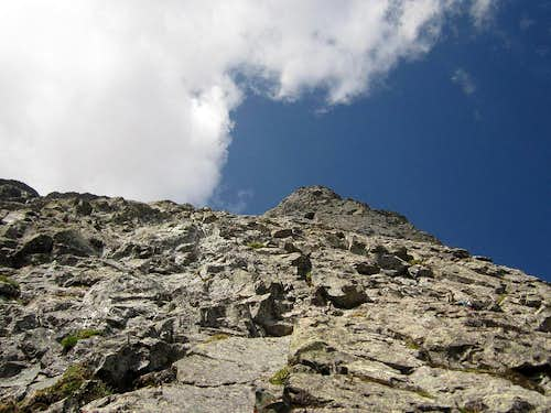 Typical terrain on Ormes Buttress