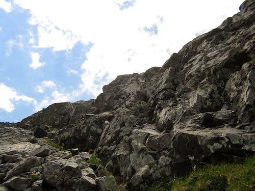 Typical terrain, upper Ormes Buttress