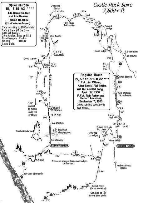 Castle Rock Spire Regular Route