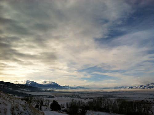 Emigrant Peak at dawn, Paradise Valley, Montana