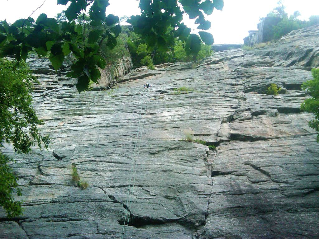 Second pitch of Three Pines - Gunks, NY