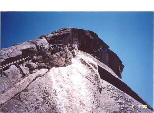 The steps on Moro Rock. Photo...