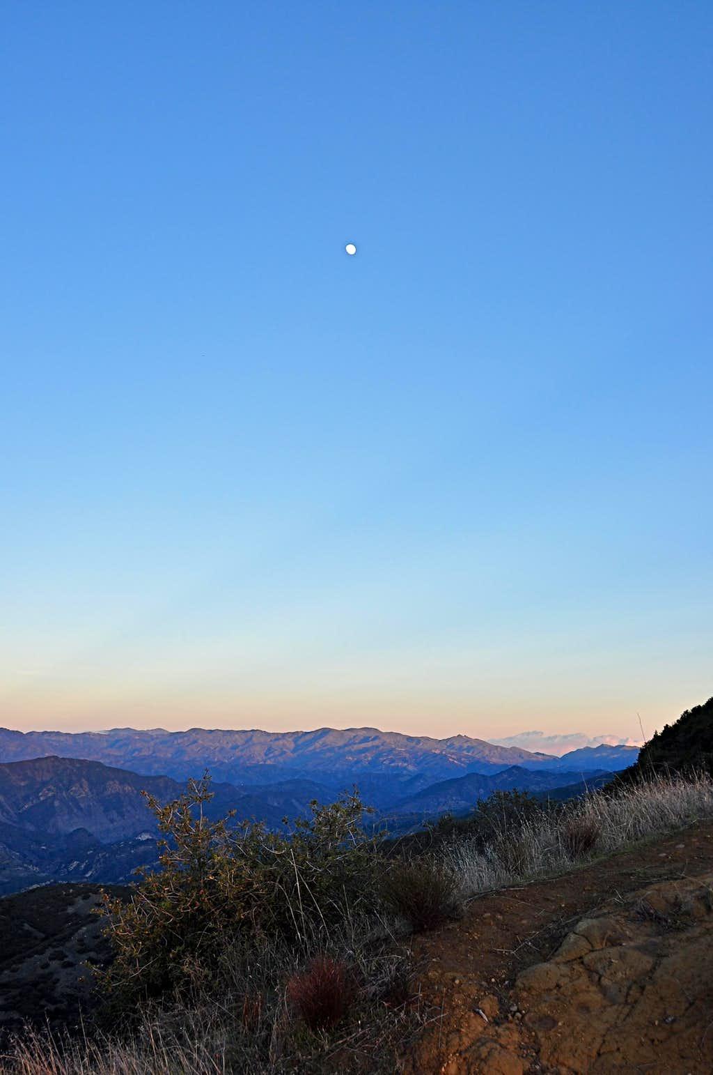Looking north from Camino Cielo Ridge