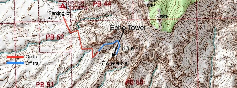 Echo Tower Approach Map