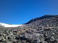 Cloud Peak scree field on summit climb.