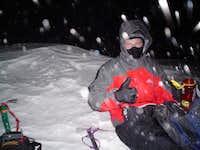 Trevor Simmons on the summit...