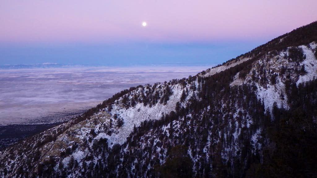 Moonset on Little Bear
