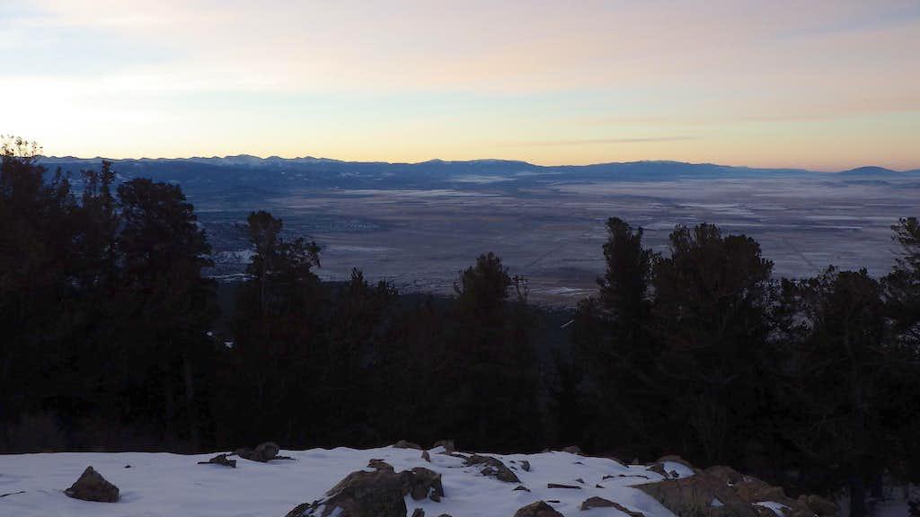 Sunrise from the SW ridge