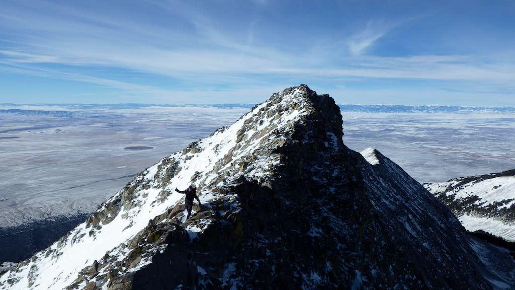 Sarah on the ridge