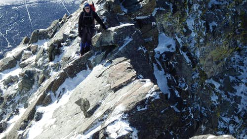 Sarah on the knife edge