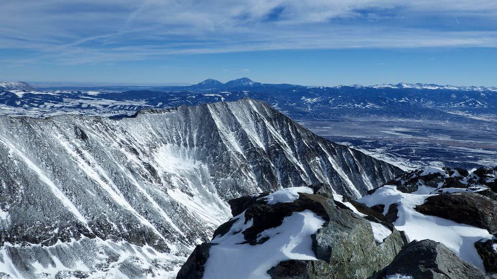 Distant Spanish Peaks