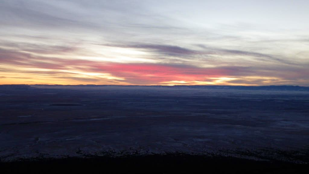 Sunset over San Luis Valley