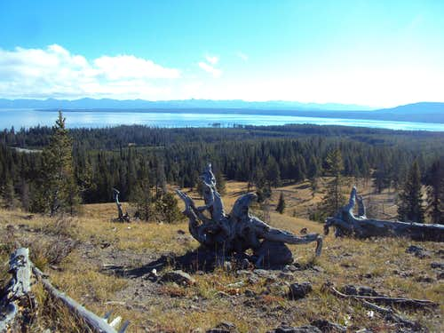 West Yellowstone Lake from Summit