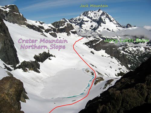 Crater Mountain Northeast Variation Diagram