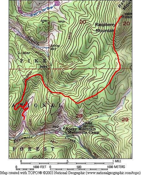A Topo map of the route to...