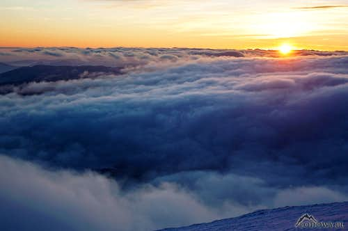 Farewell to 2012 above Tatra clouds
