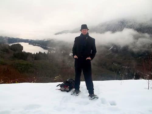 Jimbopo with Lake Cavanaugh in the background