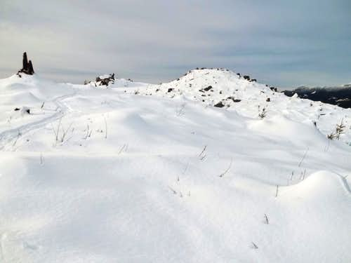 Nearing the summit of Mount Cavanaugh