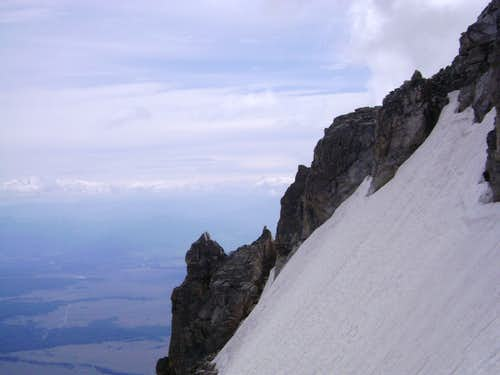 View east from above the Koven couloir on Mount Owen