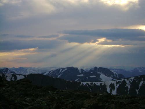 Sunrise from Froze to Death Plateau on the approach to Granite Peak, Beartooth Range Montana