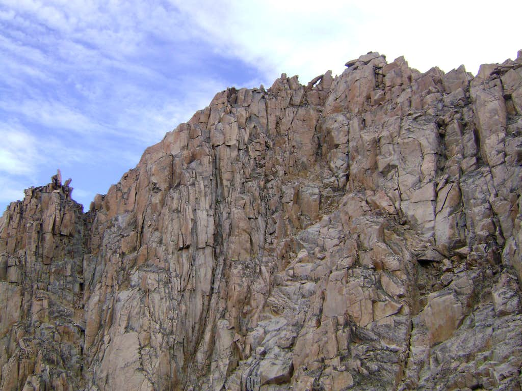 The south face of Granite Peak