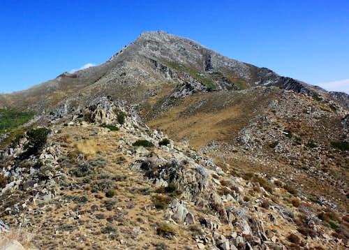 Along the west ridge