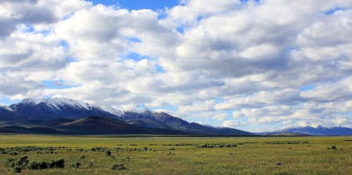 Looking north along the Santa Rosa Range