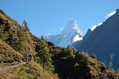 Ama Dablam from the path to...