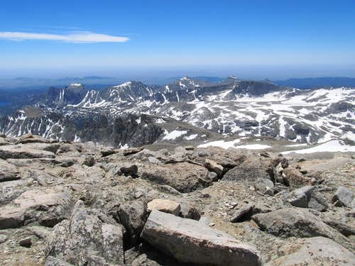 ridges along Atlantic Peak