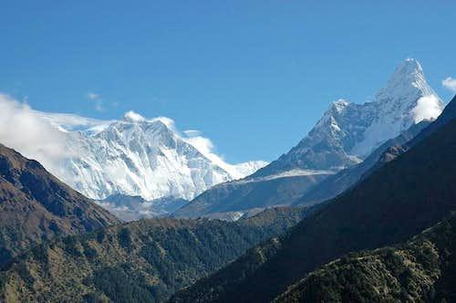 Lhotse and Ama Dablam....
