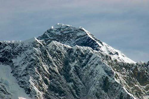Closeup of Everest as seen...