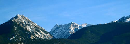 Mount Cowen in winter-Absaroka range, Montana