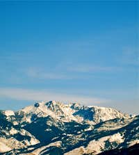 Mount Cowen seen from Paradise Valley, Absaroka Range, Montana