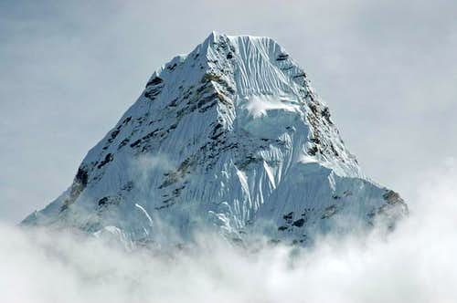 Summit region of Ama Dablam,...