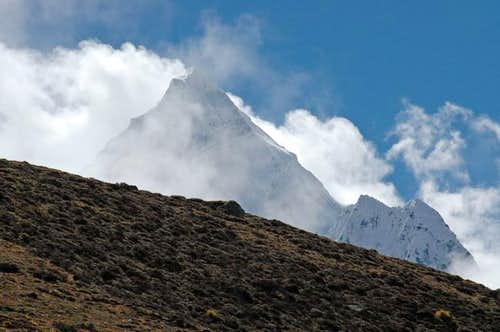 Ama Dablam from path to...